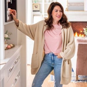 Jillian Harris x the skinny Erinn cardigan